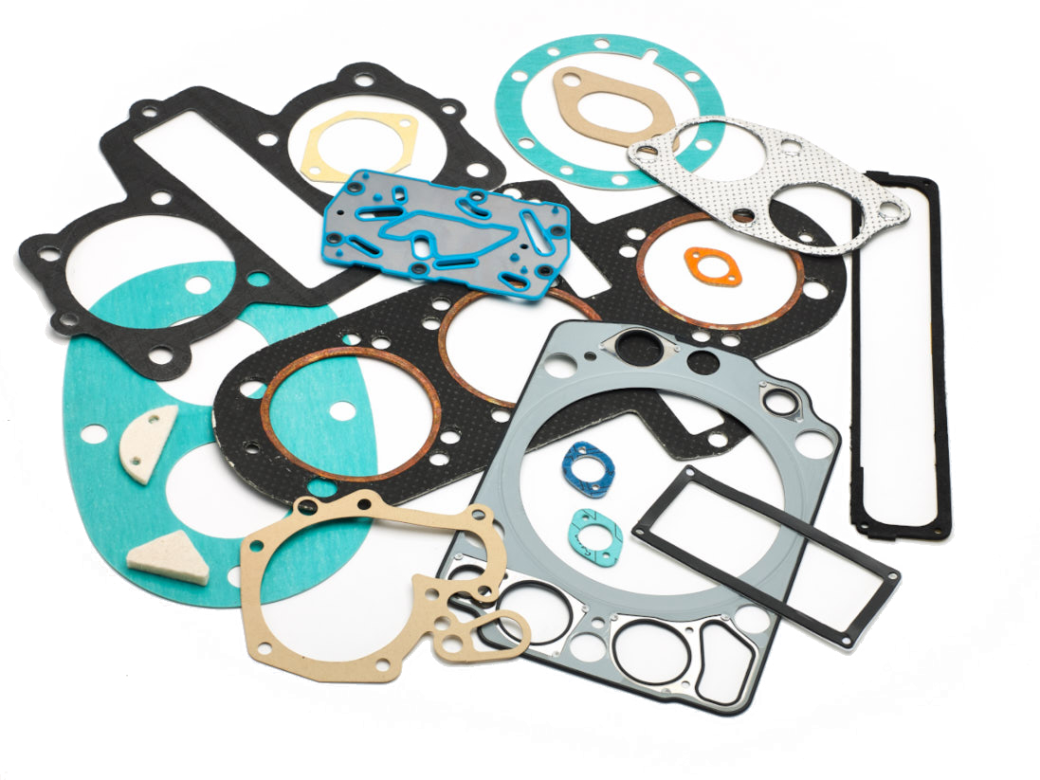 An assortment of Gaskets in a variety of materials