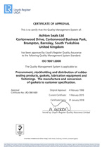 Thumbnail of an ISO 9001 quality certificate