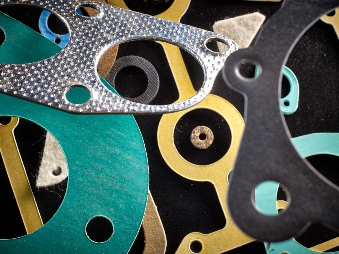 A selection of gaskets in a few different materials.