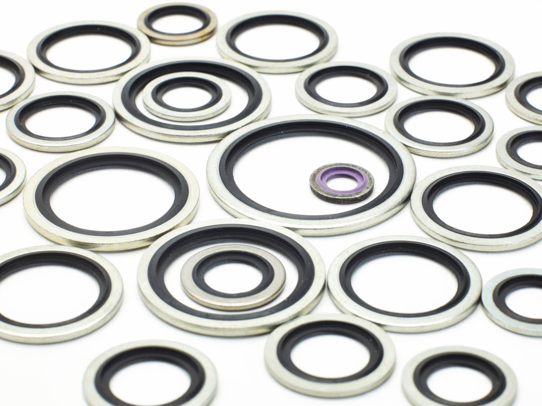 A selection of Bonded Seals in different sizes