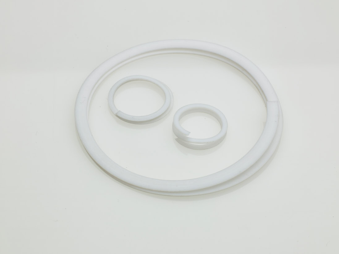 Three PTFE Spiral Back-Up Rings