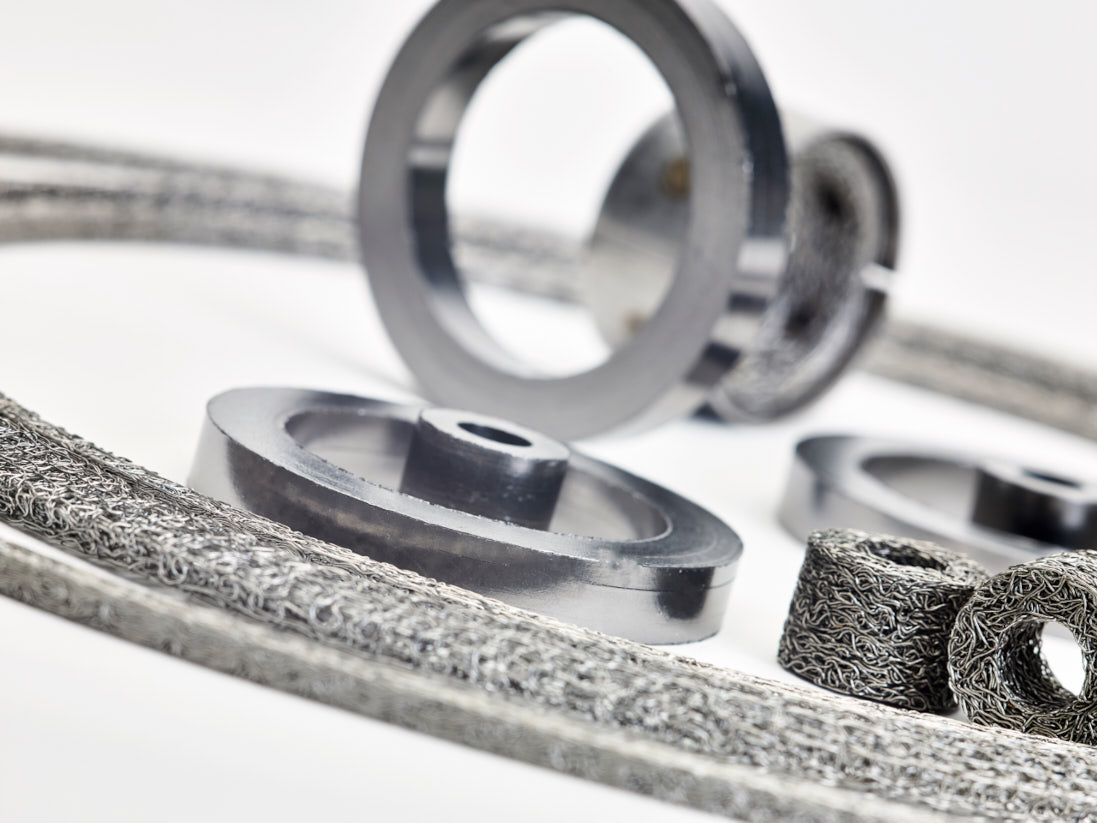 A selection of Graphite Rings and wire mesh products