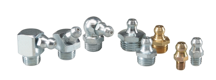 A range of different sized grease nipples