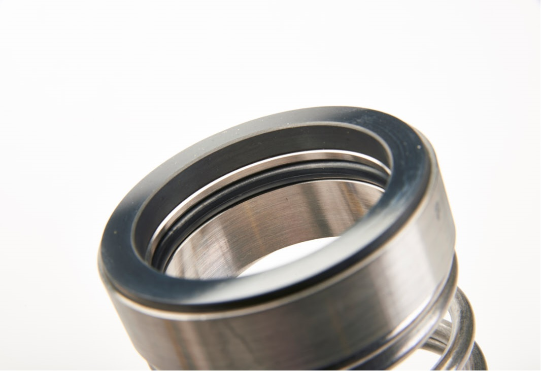 A close-up photograph of a mechanical seal